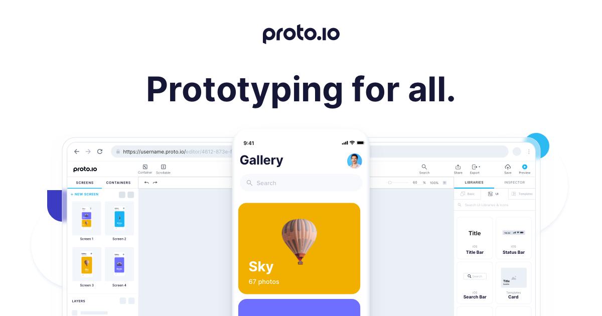 Proto.io - Prototypes that feel real
